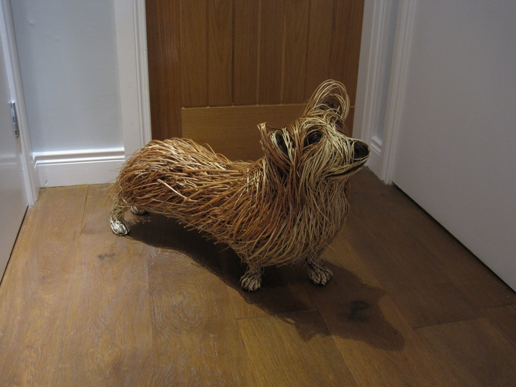 Wicker Corgi Sculpture