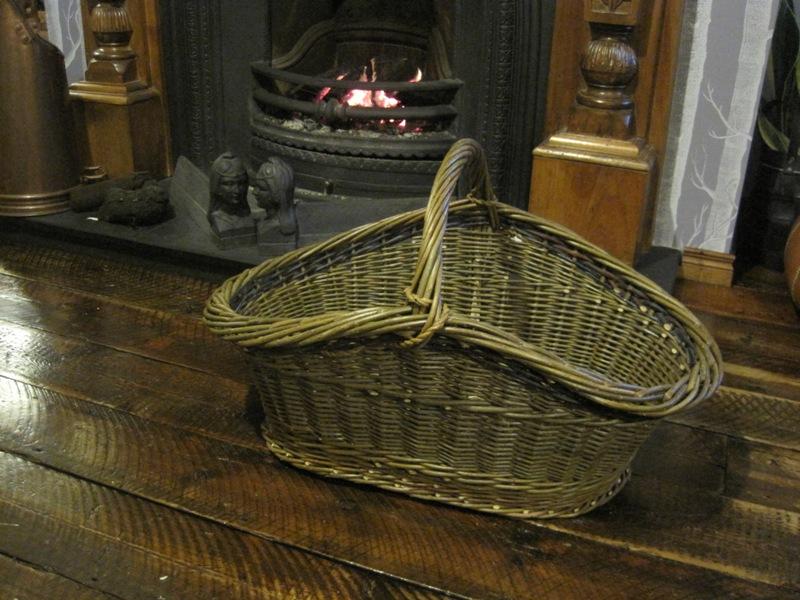Oval Log Basket