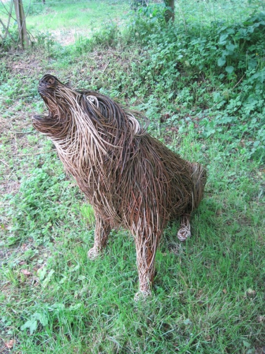 Willow Wolf Sculpture