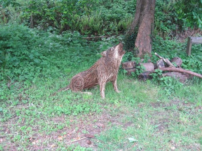 Willow Wolf Sculpture
