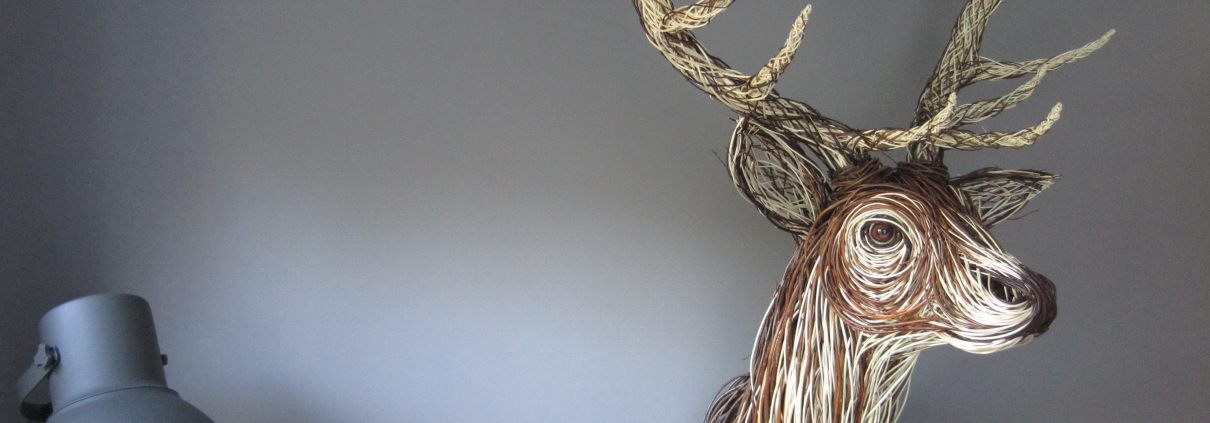 Willow Stag Sculpture